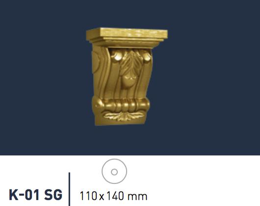 1 Konsole Stuckkonsole Dekorative Ablage Wanddekor 11x14cm K-01 SUPER GOLD