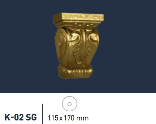 1 Konsole Stuckkonsole Dekorative Ablage Wanddekor 11,5x17cm K-02 SUPER GOLD