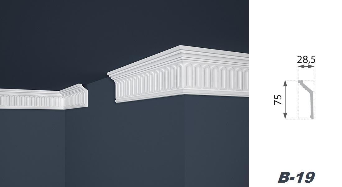 2 Meter | Stuckprofil | EPS | formfest | Marbet | 29x75mm | B-19