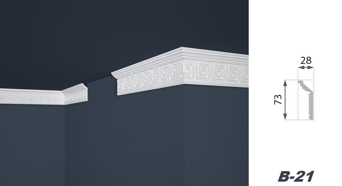2 Meter | Stuckprofil | EPS | formfest | Marbet | 28x73mm | B-21