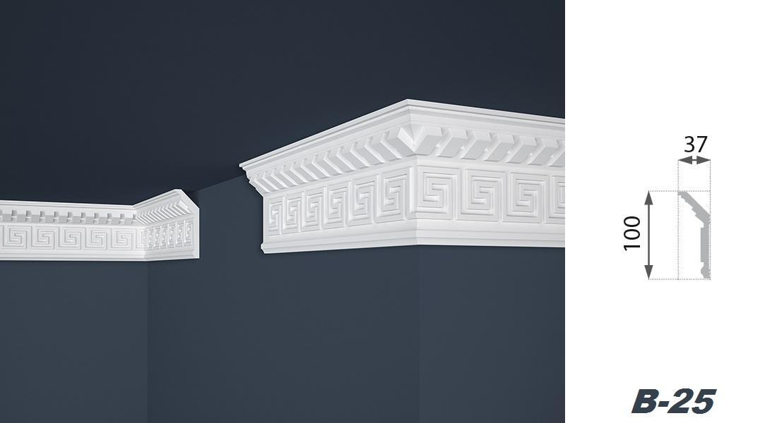 2 Meter | Stuckprofil | EPS | formfest | Marbet | 37x100mm | B-25