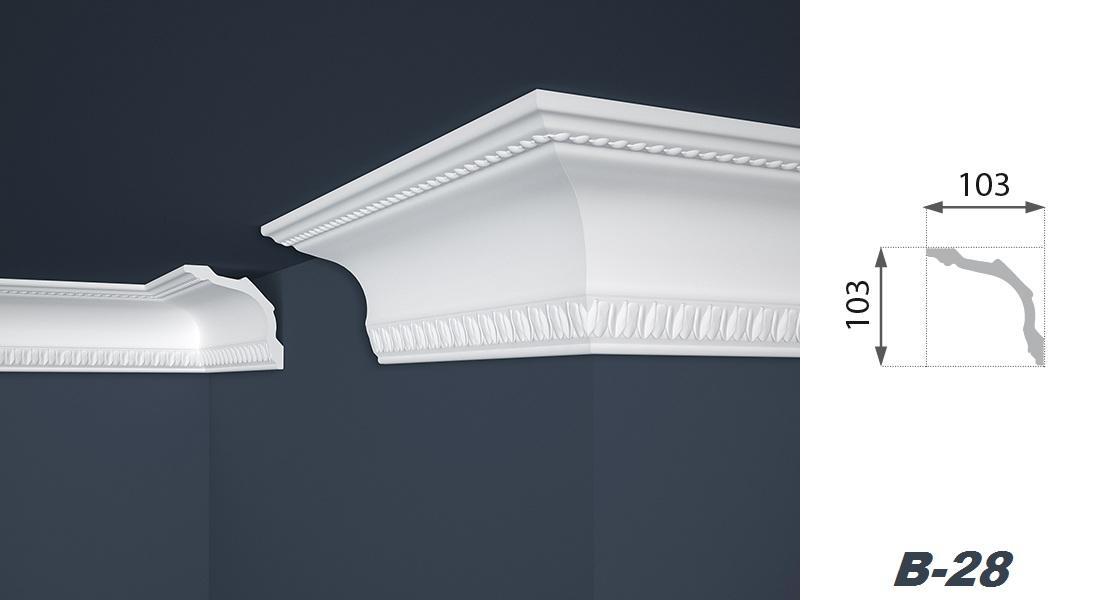 2 Meter | Stuckprofil | EPS | formfest | Marbet | 103x103mm | B-28
