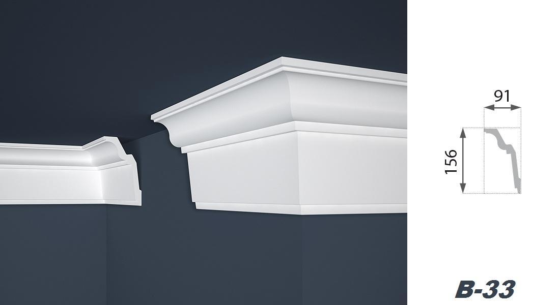 2 Meter | Stuckprofil | EPS | formfest | Marbet | 91x156mm | B-33