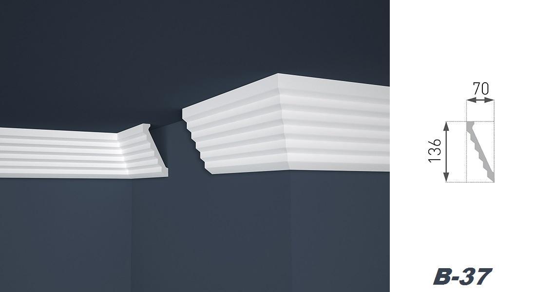 2 Meter | Stuckprofil | EPS | formfest | Marbet | 70x136mm | B-37