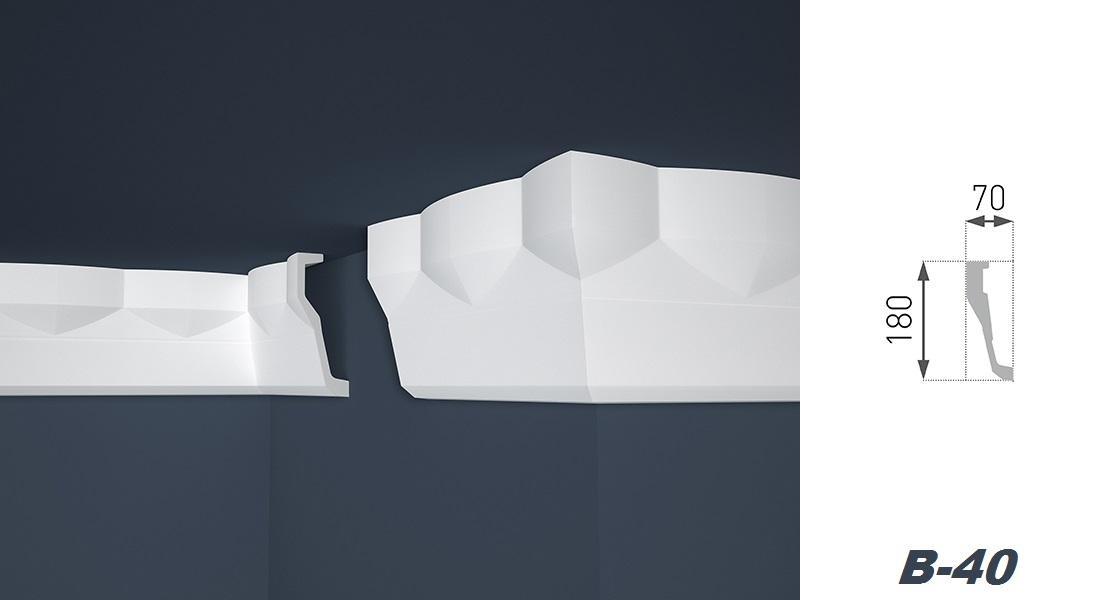 2 Meter   Stuckprofil   EPS   formfest   Marbet   70x180mm   B-40