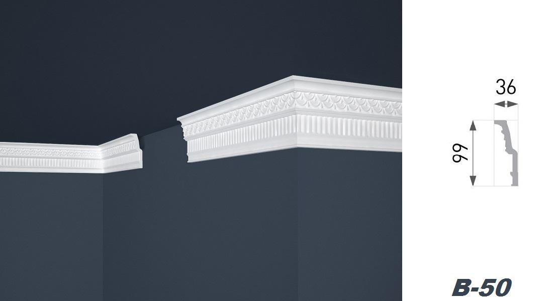 2 Meter | Stuckprofil | EPS | formfest | Marbet | 99x36mm | B-50