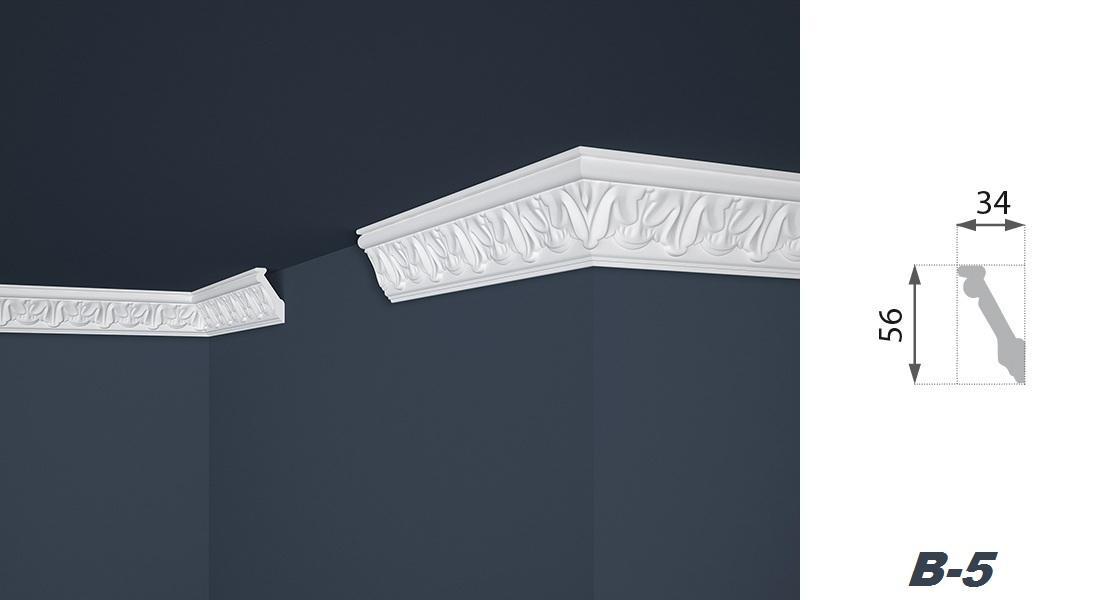 2 Meter | Stuckprofil | EPS | formfest | Marbet | 34x56mm | B-5