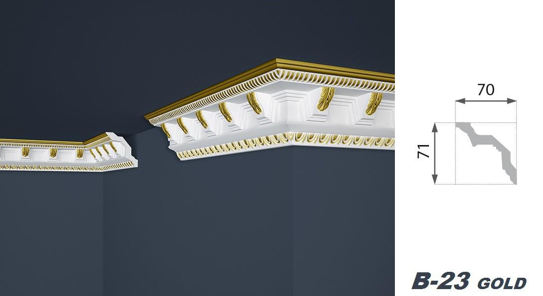 2 Meter | Stuckprofil | EPS | formfest | Marbet | 71x70mm | B-23