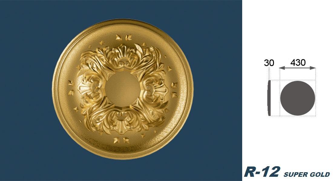 1 Rosette | Decke | Innendekor | Stuck | EPS | Dekor | 43cm | R-12