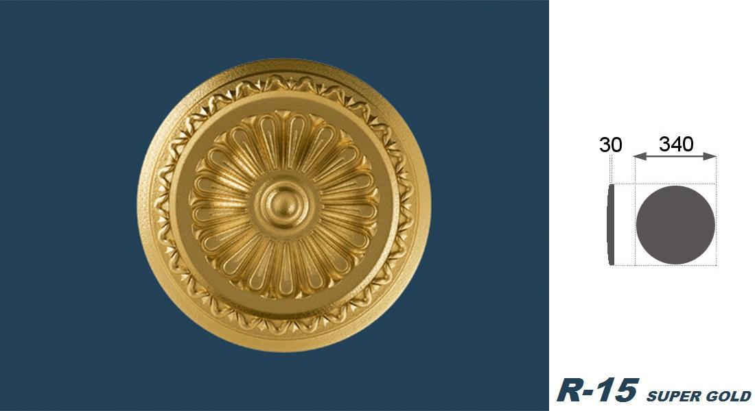 1 Rosette | Decke | Innendekor | Stuck | EPS | Dekor | 34cm | R-15