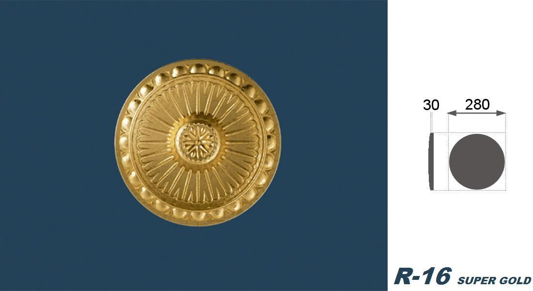 1 Rosette | Decke | Innendekor | Stuck | EPS | Dekor | 28cm | R-16