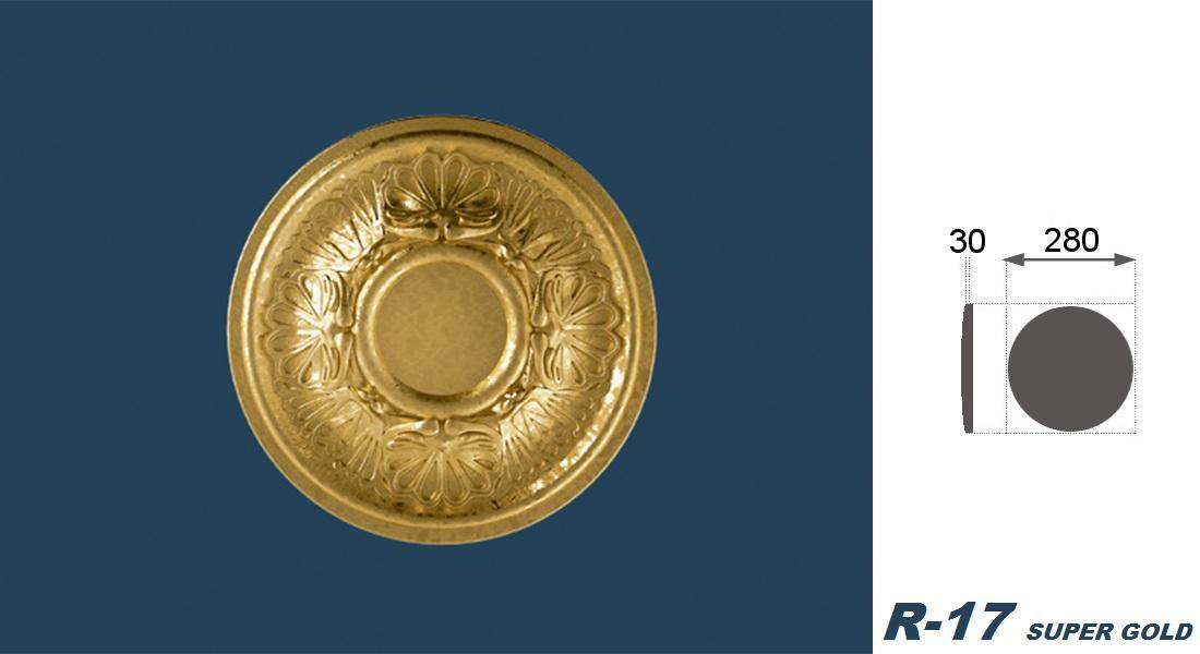 1 Rosette | Decke | Innendekor | Stuck | EPS | Dekor | 28cm | R-17
