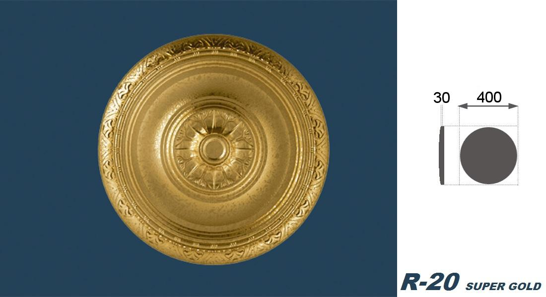 1 Rosette | Decke | Innendekor | Stuck | EPS | Dekor | 40cm | R-20