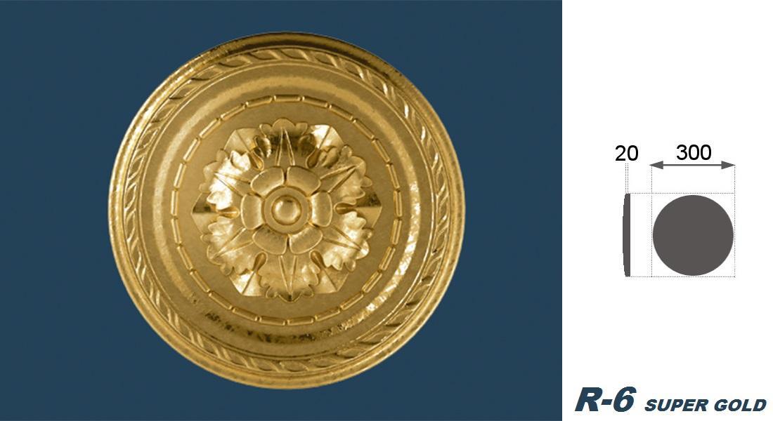 1 Rosette | Decke | Innendekor | Stuck | EPS | Dekor | 30cm | R-6