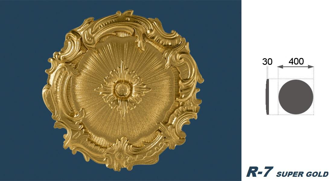 1 Rosette | Decke | Innendekor | Stuck | EPS | Dekor | 40cm | R-7