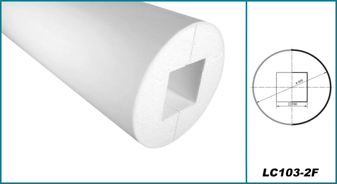 Säulen rund   Bauglieder   Auswahl   stoßfest   405mm   LC103 F
