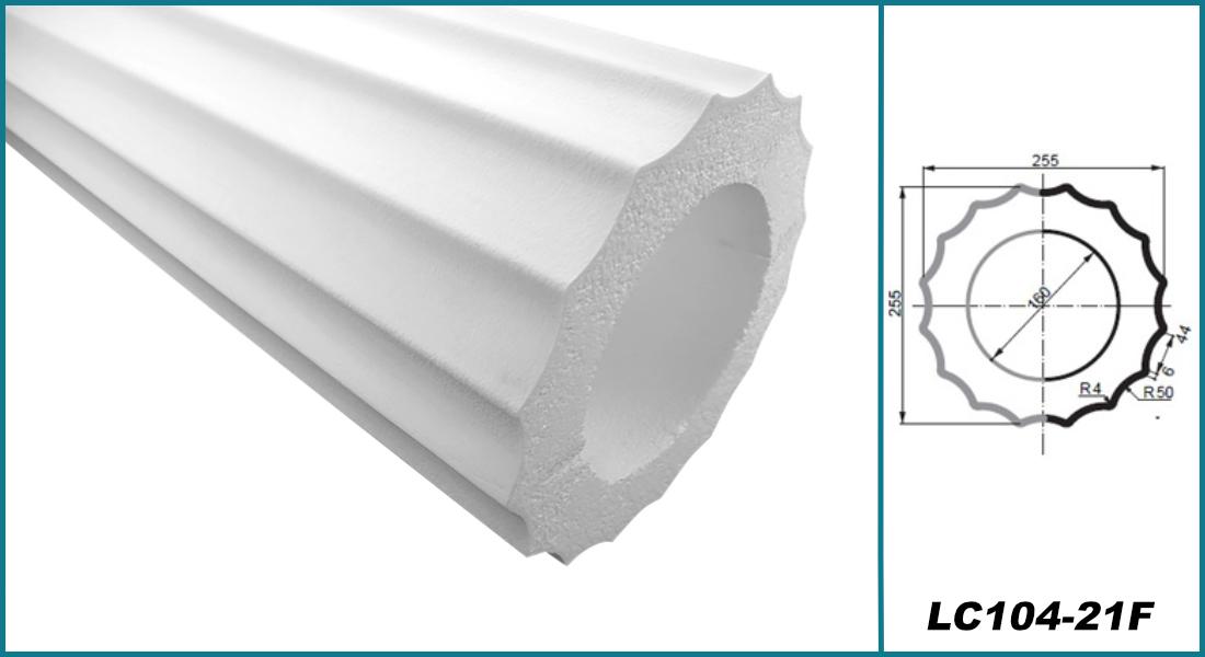 Säulen rund   Bauglieder   Auswahl   stoßfest   255mm   LC101 F