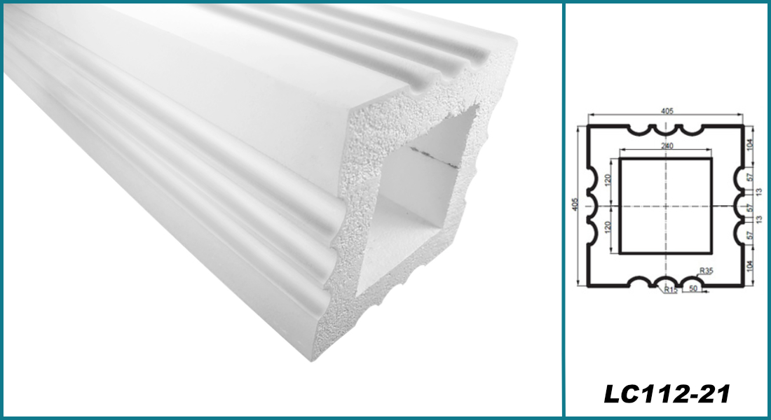 Säulen eckig   Bauglieder   Auswahl   stoßfest   405mm   LC109 F