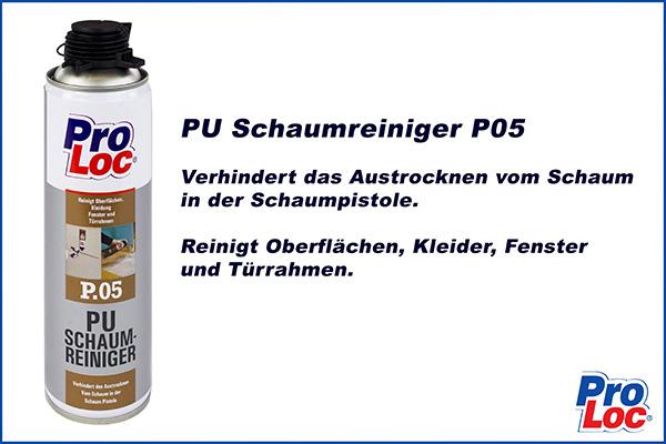 1 Dose | Montageschaumreiniger | PU Pistolenreiniger | ProLoc | P05