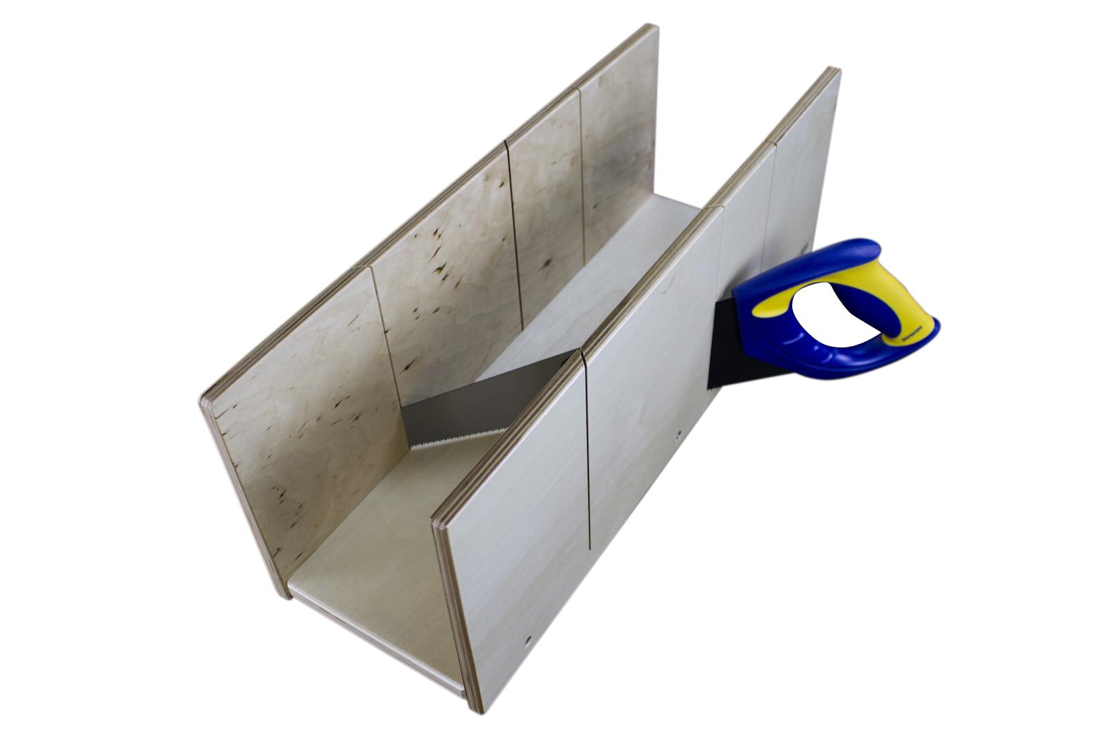 Gehrungslade | IRWIN-Säge | Holz | perfekte Winkel | Marbet | 19x49cm