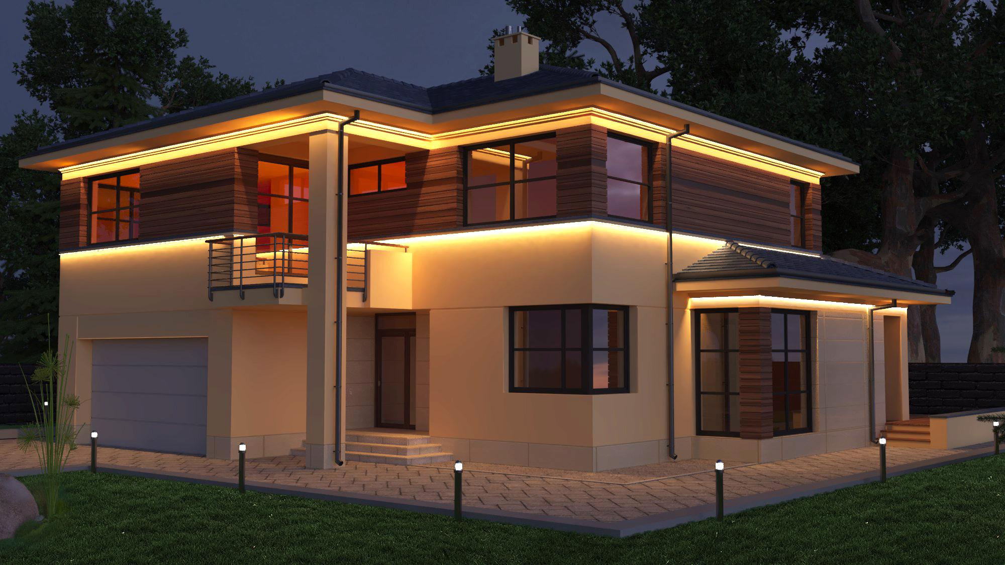 LED Fassadenleisten