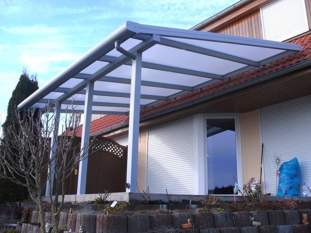 Pultdach mit Dachüberstand
