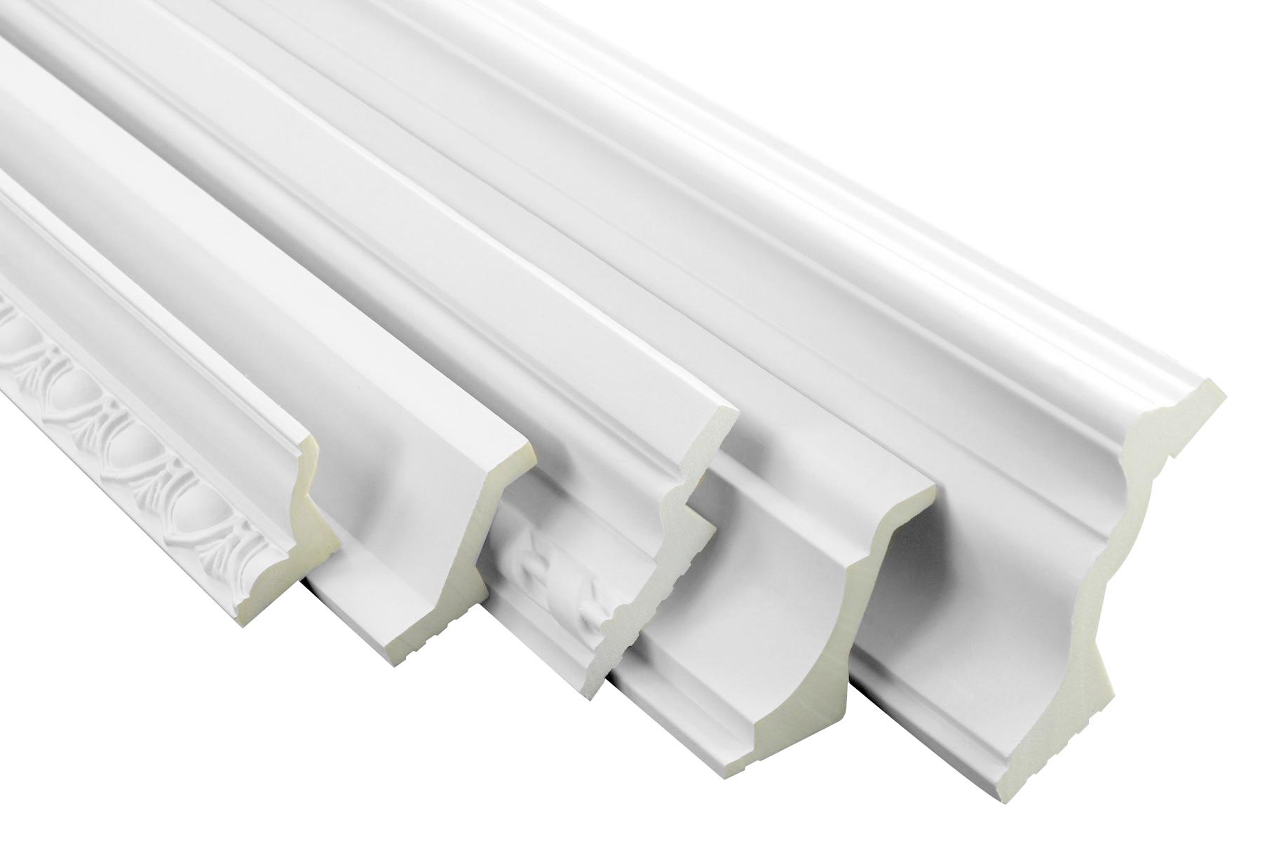 Muster Musterstücke LED Stuckleisten aus Polyurethane