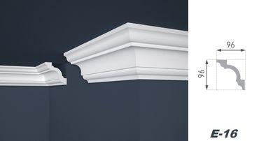 [Sparpaket] 50 Meter Deckenprofile Deko Zierleisten Innen Stuck hart 96x96mm, E-16