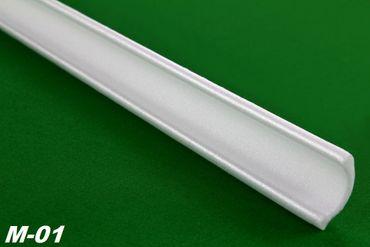 [Sparpaket] 100 Meter Eckprofile Styroporleisten Deckenleisten Dekor Stuck 30x30mm, M-01