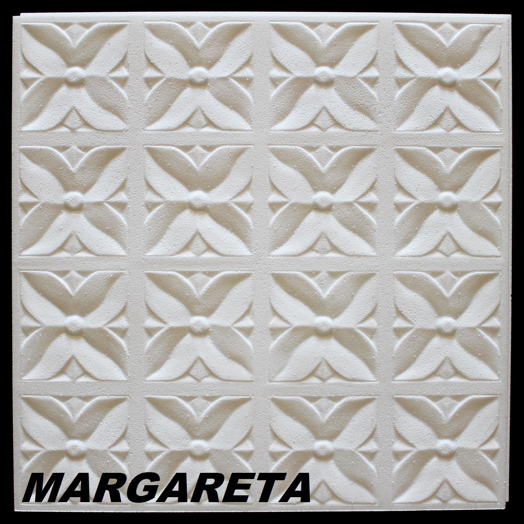 1 M2 Deckenplatten Styroporplatten Stuck Decke Dekor Platten 50x50cm,  MARGARETA
