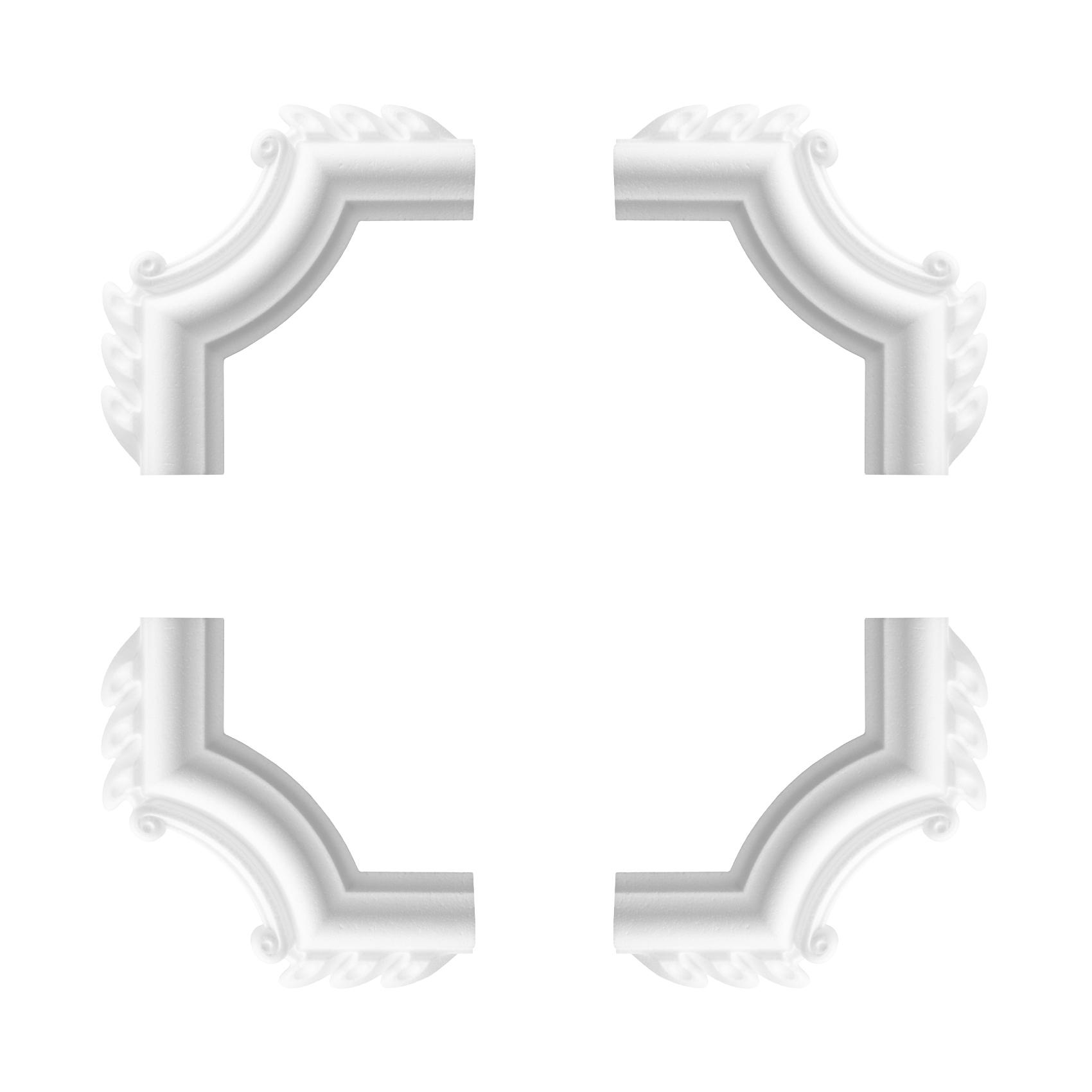 1 Set Segmente Bögen für Flachleiste E-18   Stuck   Marbet Design   NE-18-03D
