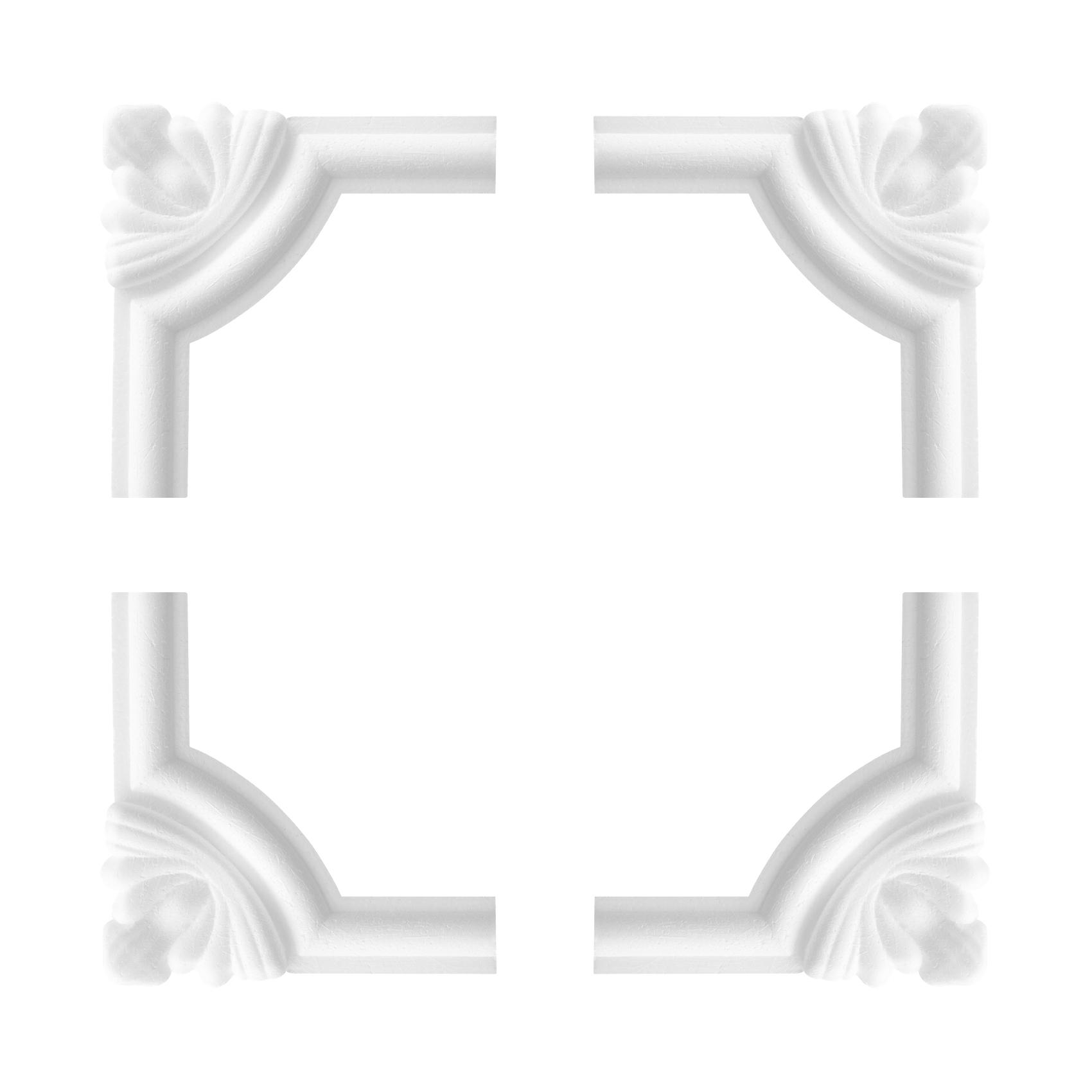 1 Set Segmente Bögen für Flachleiste E-27   Stuck   Marbet Design   NE-27-02D