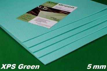 [Paket] 300 m² Trittschalldämmung Dämmung Boden für Laminat Parkett, 5mm - XPS Green