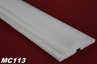[Paket] 40 Meter Fassadenprofile Dekor Stuckleisten stoßfest 110x40mm, MC113