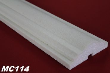 [Sparpaket] 10 Meter Fassade Stuck Dekor Profile Leisten stoßfest 115x40mm, MC114