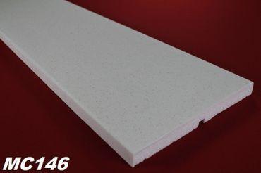 [Paket] 40 Meter Fassadenprofil Haus Deko Wand Außen stoßfest 250x25mm, MC146