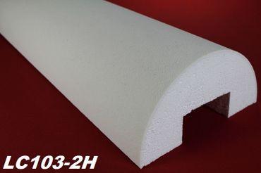 2 Meter Halbsäule rund glatt Körper Halbsäulenkörper stoßfest Ø405mm, LC103-2H