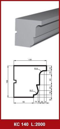 [Sparpaket] 10 Meter universelle Gesimsleisten Außendekor stoßfest 130x135mm, KC140