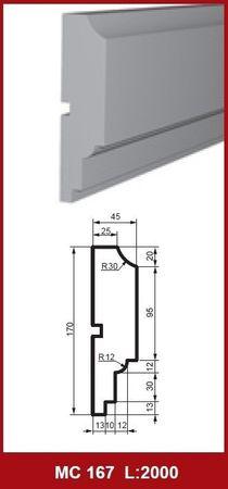[Paket] 30 Meter Fassadenprofile Außendekoration Wand stoßfest 170x45mm, MC167