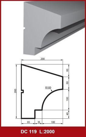 [Sparpaket] 10 Meter Fassadenprofile Fensterbankleisten stoßfest 260x200mm, DC119