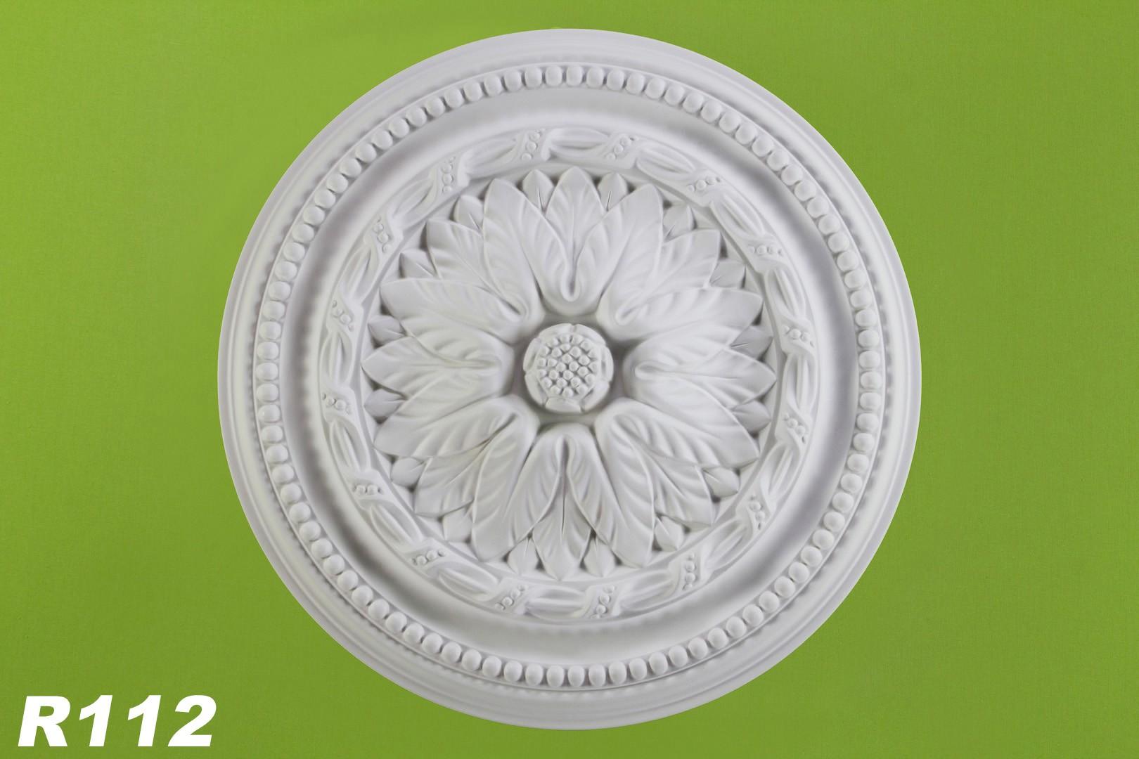 1 rosette stuck deckenrossete decke wand dekor dekorrosette sto fest 40cm r112 decke rosetten. Black Bedroom Furniture Sets. Home Design Ideas