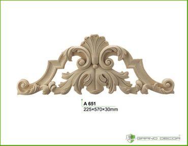 1 Dekorelement Ornament Dekor Dekorstuck Innen Wand stoßfest 225x570mm, A651