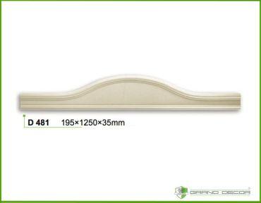 1,25 Meter Oberteil Giebel Frontteil Zarge Dekor Stuck stoßfest 195x1250mm, D481