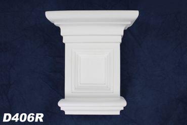 1 Kapitell Eckelement für Türportal Stuckdekor Innen stoßfest 190x170mm, D406R