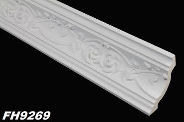 [Paket] 19,2 Meter PU Zierleisten Dekor Profile Stuck Innen stoßfest 74x70mm, FH9269