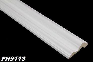 [Paket] 10 Meter PU Flachprofile Leisten Innen Dekor Stuck stoßfest 73x23mm, FH9113