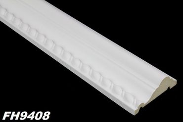 [Paket] 100 Meter PU Flachprofile Leisten Wand Dekor Stuck stoßfest 80x30mm, FH9408