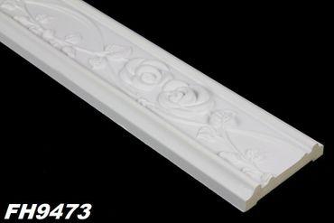 [Paket] 97 Meter PU Flachprofile Leisten Wand Dekor Stuck stoßfest 84x20mm, FH9473