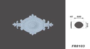 1 PU Rosette Wandrosette Innen Stuck Dekor Decke stoßfest 60x31cm, FR8103