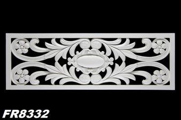 1 PU Dekoratives Profil Rahmen Wandtafel Stuck Dekor stoßfest 105x36cm, FR8332